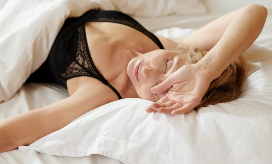 mature woman sleep